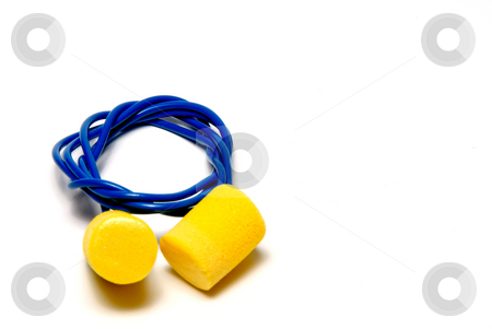 Ear Plugs stock photo, A set of ear plugs - personal protective equipment. by Robert Byron