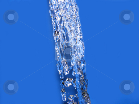 Running Water with a Blue Background stock photo, Running Water with a Blue Background by Adrian Mace