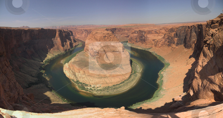 Horseshoe Bend, AZ stock photo, Panoramic view of the Horseshoe Bend in Arizona by Szilard Kun