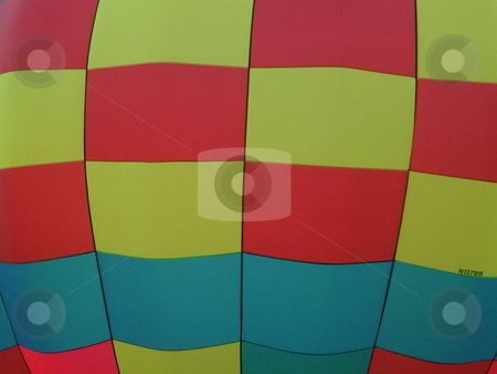 Colorful Hot Air Balloon stock photo, Frame filled with patchwork colored hot air balloon by Bill Parmentier