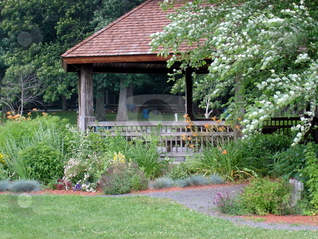 Gazebo stock photo, Gazebo during the early fall by Bill Parmentier