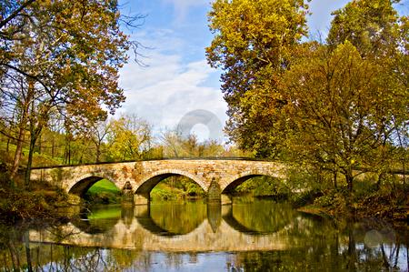Reflection of Burnside's Bridge at Antietam stock photo, Burnside's Bridge at the Antietam Battleground by Eric Gaston