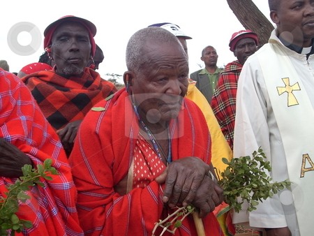 Laibon-A Masai religious leader stock photo, A Laibon - a Masai religious leader who is honored and respected by the entire community for his wise leadership,council, and guidance. by Rose Nthiwa
