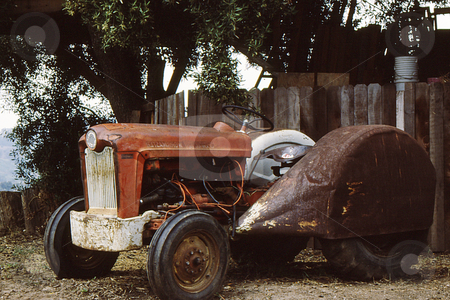 Old Tractor stock photo, Old rusted tractor by Joseph Ligori