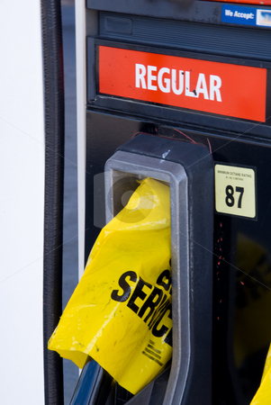 Gas Crisis stock photo, A gas station has run out of gasoline. by Robert Byron