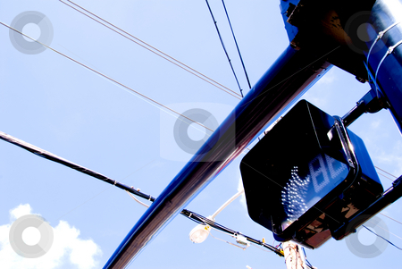 Pedestrian Signal stock photo, An electronic traffic signal for pedestrians. by Robert Byron
