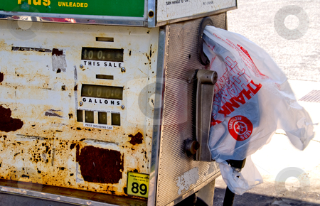 No gas pump stock photo, A gas station has run out of gasoline. by Robert Byron