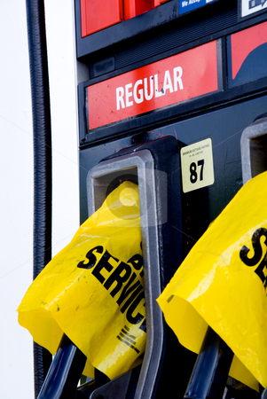 Fuel pumps stock photo, A gas station has run out of gasoline. by Robert Byron