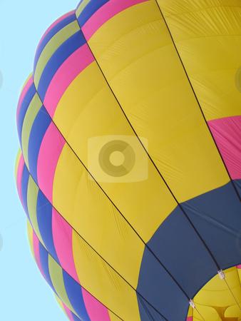 Hot Air Balloon Segment Against Blue Sky stock photo, Segment of a hot air balloon shown against blue sky by Denis Radovanovic