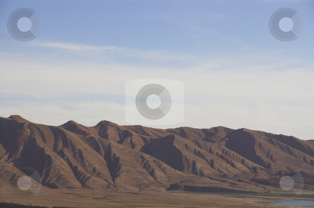 Morocco Desert Scenery 2 stock photo, Foothills in the Moroccan desert, notched by rare rainfalls by Szilard Kun