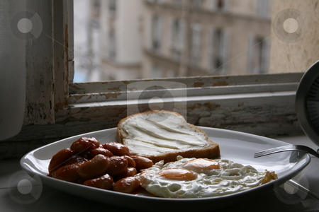 Window breakfast stock photo,  by Luis Agui