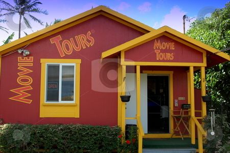 Van Tours store on Kauai, Hawaii stock photo, This is the office of the Kauai Van Movie Tours of Hawaii. The tour around the island takes tourists to many places where movies were filmed in Kauai. by Janie Mertz