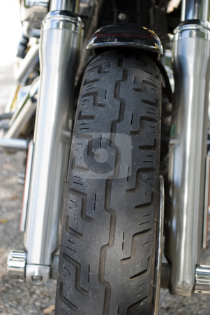 Motorcycle Tire stock photo, Close  up of motorcycle tire by Robert Cabrera