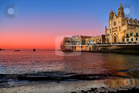 St. Julians Bay - Malta stock photo, St Julians Bay in Malta by Tyler Olson