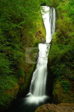 The Bridal Veil stock photo, Gorgeous Bridal Veil falls at Columbia River Gorge by Nilanjan Bhattacharya