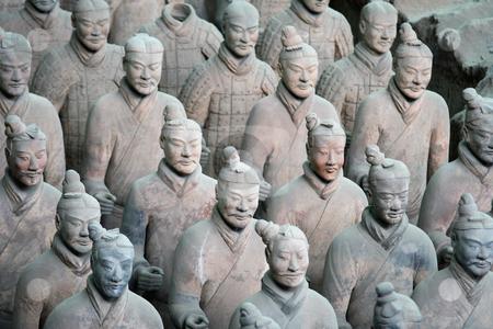 Chinese Terra cotta warriors stock photo, Terra Cotta Warriors Museum in Xian quite near Beijing (China) by Gautier Willaume