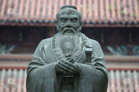 Confucius Statue stock photo, Confucius statue in Confucius Temple in Suzhou (China) by Gautier Willaume