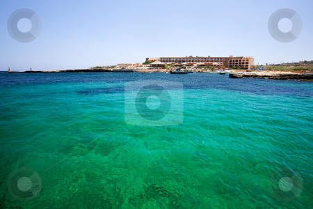 Malta stock photo, Green water detail in Malta by Tyler Olson