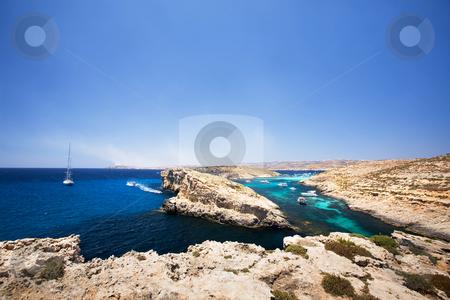 Comino and Gozo Island stock photo, Comino and Gozo island in malta by Tyler Olson