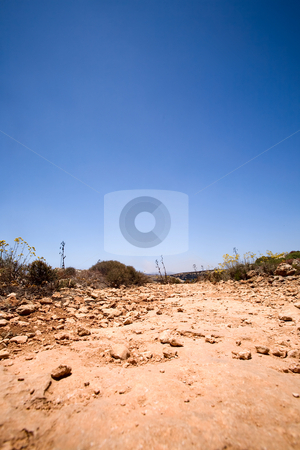 Old Dirt Road stock photo, An old dirt road with a deep blue sky by Tyler Olson