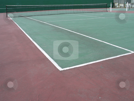 Green tennis court stock photo,  by Mbudley Mbudley