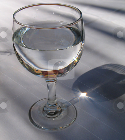 Fresh glass of water stock photo,  by Mbudley Mbudley