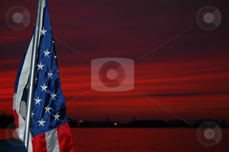 Red Sky at night stock photo,  by Richard Sheehan