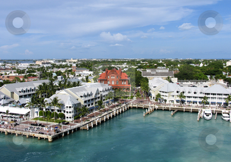 Key West stock photo, Aerial view of Key West, Florida by Anita Peppers
