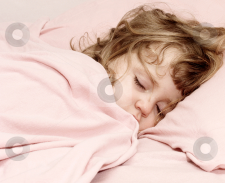 Sleeping stock photo, High-key of a child asleep by Anita Peppers