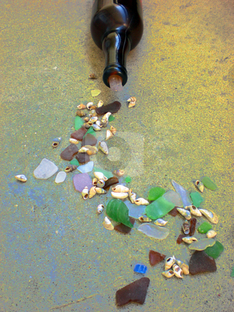 Sea glass spill 1 stock photo,  by J.G. Byers