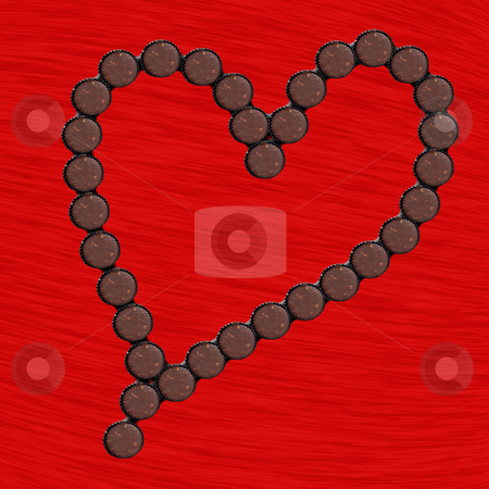 Chocolate Cup Heart stock photo, Chocolate cup heart arrangment for anyone special by Johan Knelsen