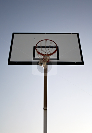 Basketball hoop stock photo, Basketball hope at the end of the day by Paulo Resende