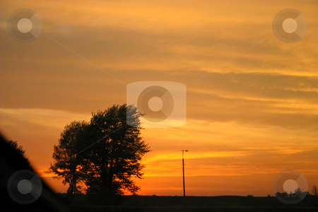 Firey Red Skies stock photo, Fire in the sky at sunset early in the evening by Johan Knelsen