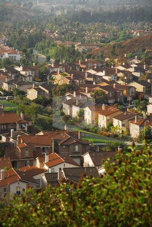 Orange County California houses stock photo, Houses in Orange County by Timothy OLeary