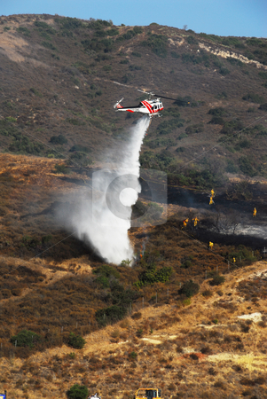 Firefighting Helicopter stock photo,  by Timothy OLeary