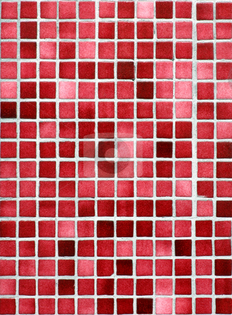 Red and pink small tiles background. stock photo, Red and pink small tiles background. by Stephen Rees