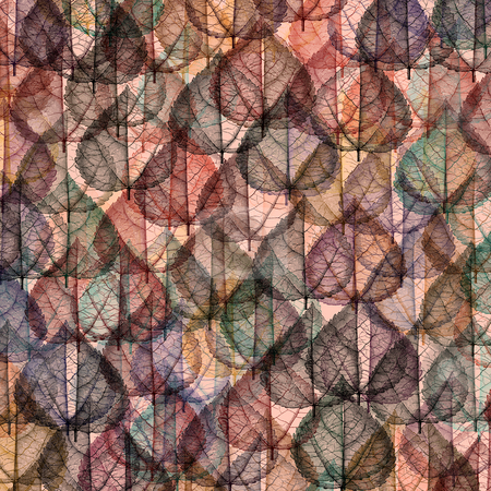 Pattern with leaves stock photo, Autumn leaves textured by Wino Evertz