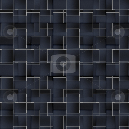 Abstract wall of bricks stock photo, Pattern of black tiles by Wino Evertz
