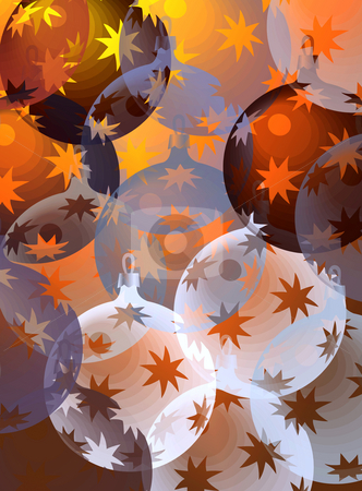 Pastel christmas balls stock photo, Pattern with christmas decorations by Wino Evertz