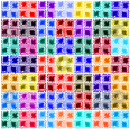 Abstract wall of bricks stock photo, Pattern of colored cubes by Wino Evertz