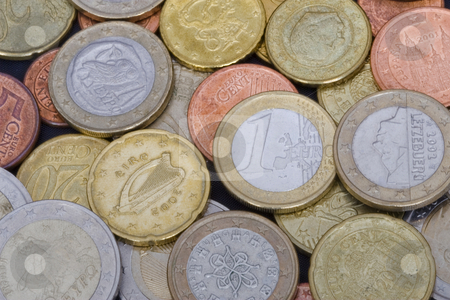 Euro Coins stock photo, A variety of Euro coins from many different countries by Inge Schepers