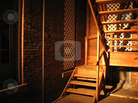 Shadowy stairs stock photo,  by Jeffrey Sharpe