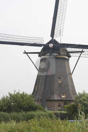 Dutch Windmill stock photo, Dutch Windmill at Kinderdijk, South Holland by Inge Schepers