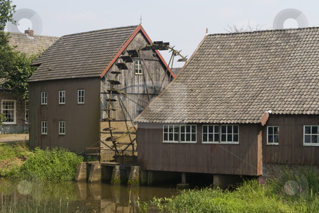 Centuries Old Watermill stock photo, Centuries old watermill, which was painted by Vincent van Gogh by Inge Schepers