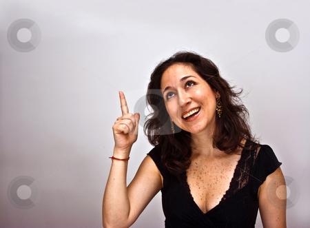 Great idea stock photo, Woman having a brilliant idea by Paul Hakimata