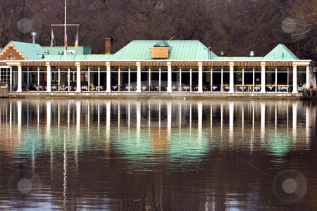 The Boathouse Restaurant - Central Park, NYC stock photo,  by Paul Hakimata