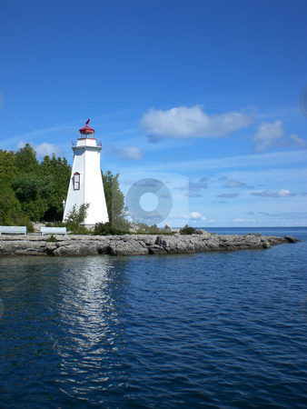 Big Tub lighthouse stock photo,  by J.G. Byers