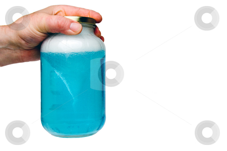 Tornado Jar stock photo, A home made tornado in a jar science experiment. by Robert Byron