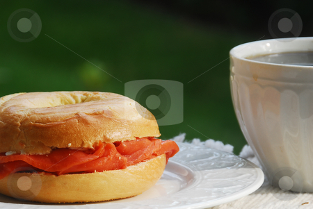 Lox and Bagel   stock photo,  by Timothy OLeary