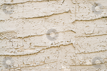Chipped Paint stock photo, An exterior wall with paint that is chipping by Richard Nelson